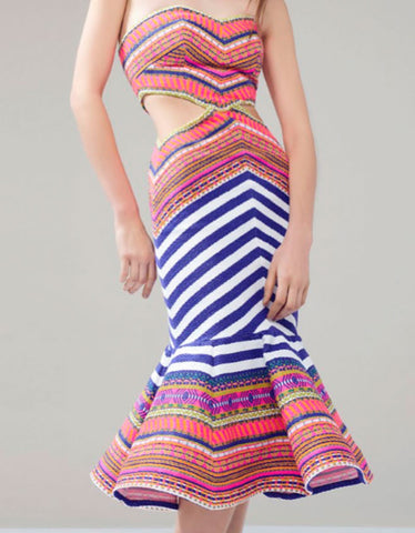 Alexis Yulia Dress in Aztec Neon