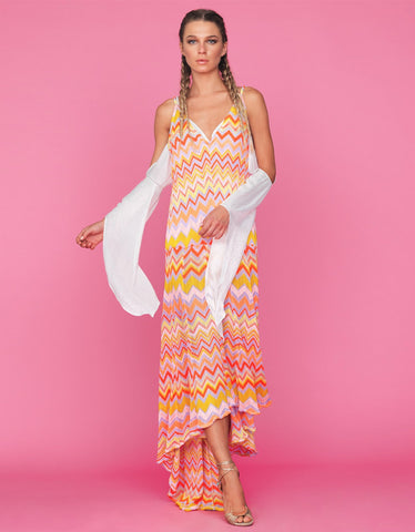 Tete by Odette Zig Zag Maxi Dress