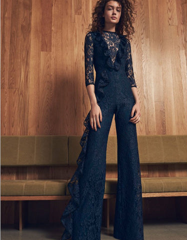Alexis Derica Lace Jumpsuit in Navy