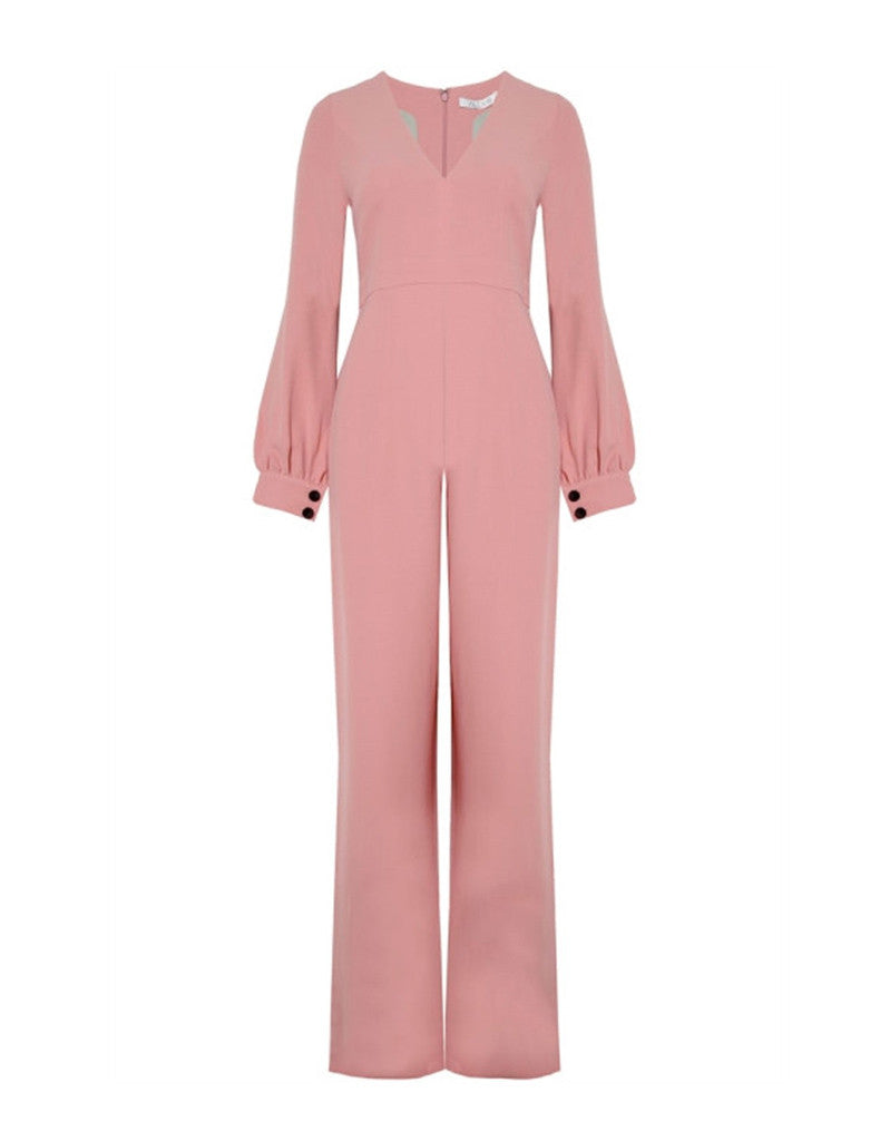 Alexis Isadore Jumpsuit in Ash Pink - SWANK - Jumpsuits - 6