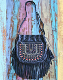 Apachita Earth Handbag with Fringe - SWANK - Handbags - 1