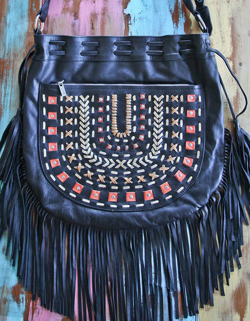 Apachita Earth Handbag with Fringe - SWANK - Handbags - 2