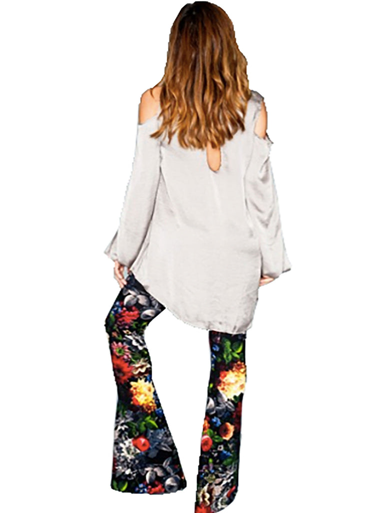 Show Me Your Mumu Bam Bam Bells in Black Floral Waffle - SWANK - Pants - 2
