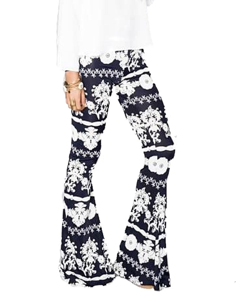 Show Me Your Mumu Bam Bam Bells in Fine China Spandy - SWANK - Pants - 3