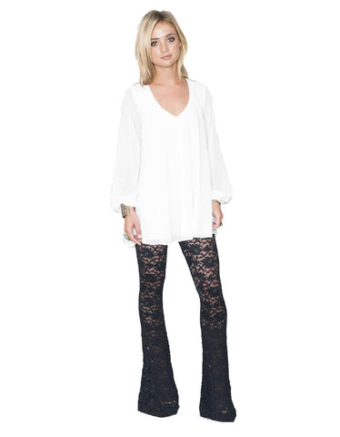 Show Me Your Mumu Bam Bam Bells in LaRose Lace Midnight