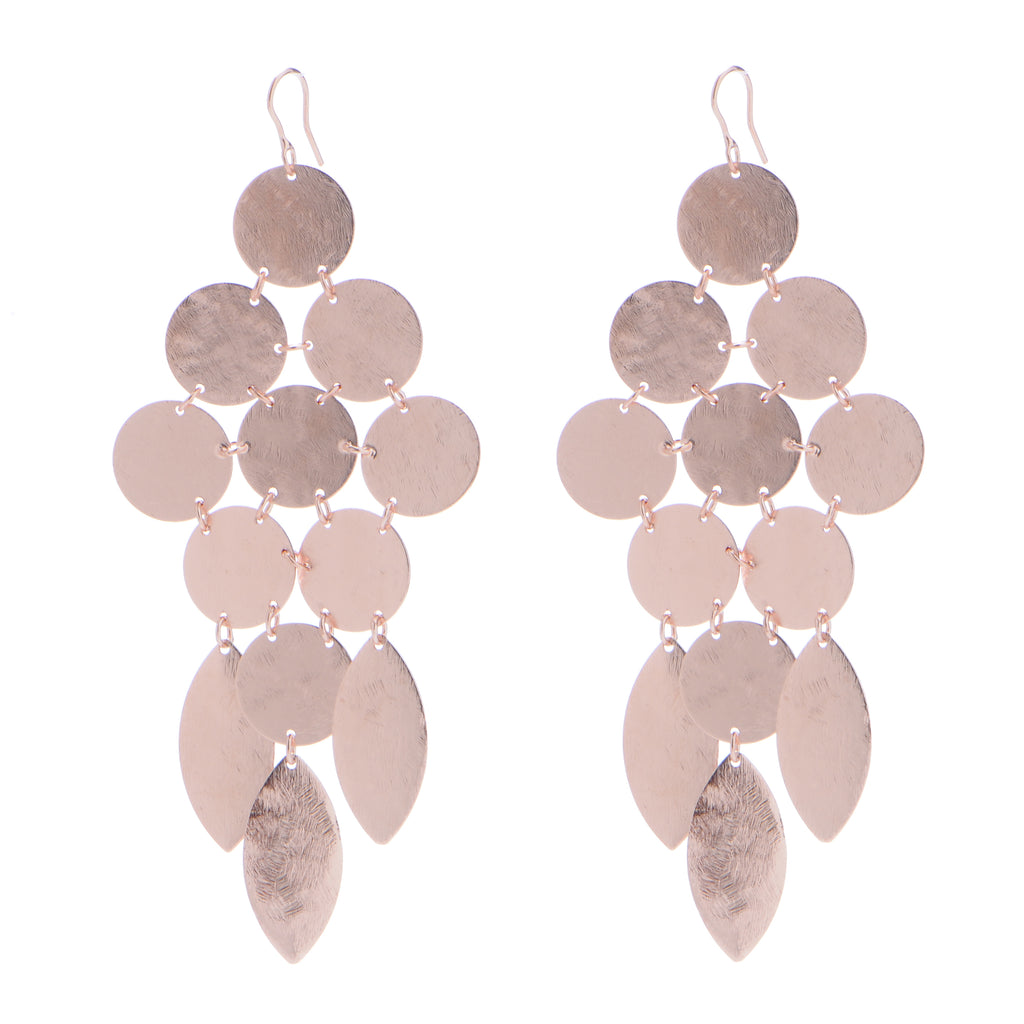 Chandelier Earrings in Rose Gold - SWANK - Jewelry - 3