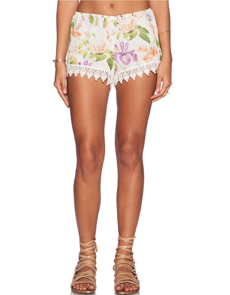 Show Me Your Mumu Bri Lacey Shorts in Flower Press - SWANK - Shorts - 1