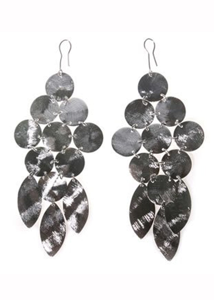 Chandelier Earrings in Silver - SWANK - Jewelry - 2