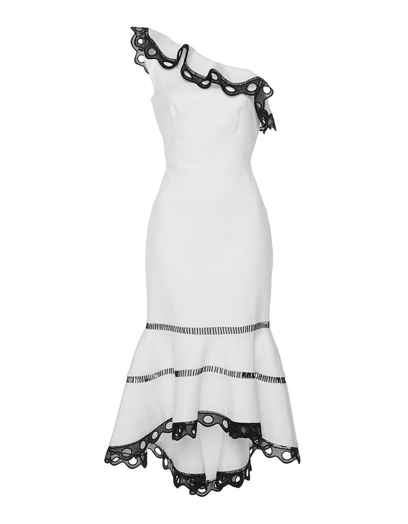 Alexis Christie Dress in White - SWANK - Dresses - 1