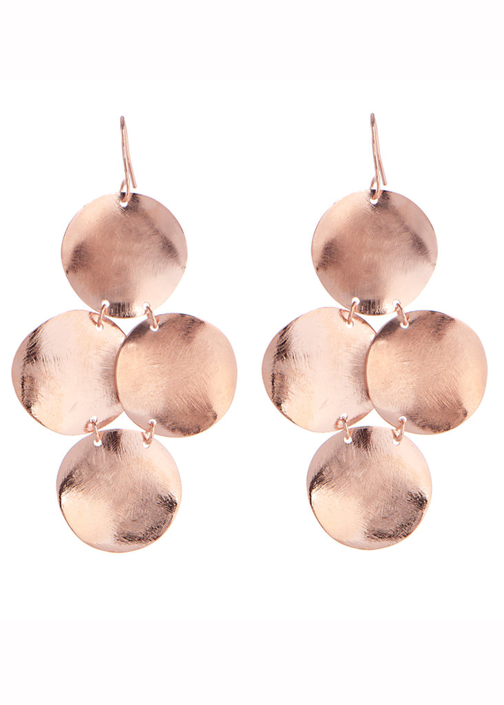 Small disc chandelier earrings in gold rose gold swank small disc chandelier earrings swank jewelry 2 aloadofball Image collections