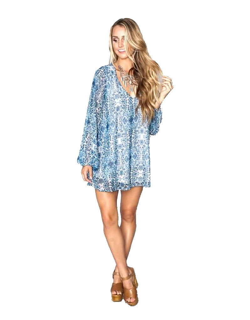 Show Me Your MuMu Donna Michelle Tunic in Santorini Splash - SWANK - Tops - 2