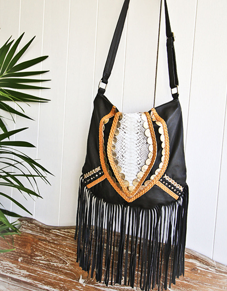 Free As A Bird Handbag with Fringe - SWANK - Handbags - 2