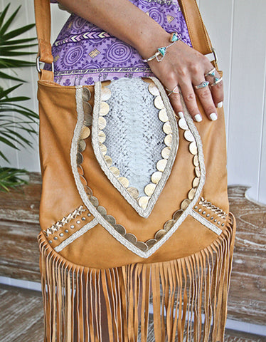 Free As A Bird Handbag with Fringe