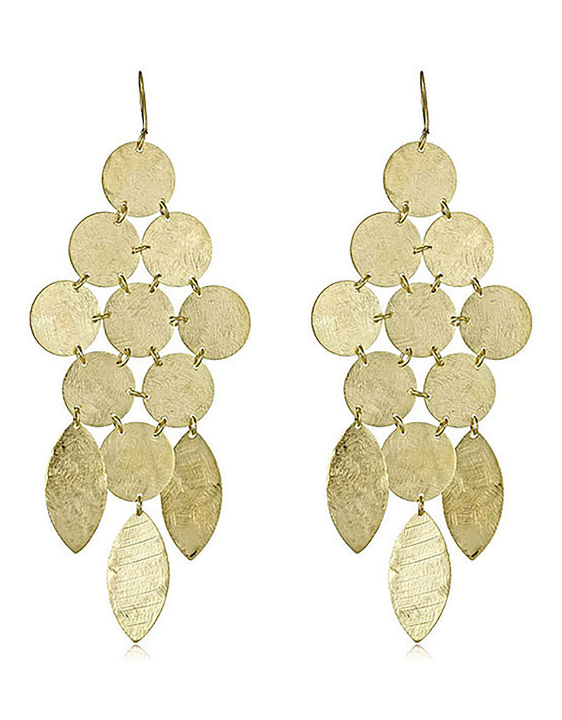 Chandelier Earrings in Gold - SWANK - Jewelry - 1
