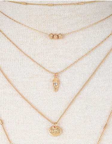 Vintage Snoot Gold Layer Necklace in Gold