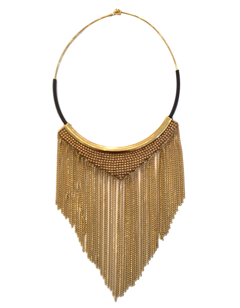 Fiona Paxton Chain Fringe Necklace in Gold - SWANK - Jewelry - 1