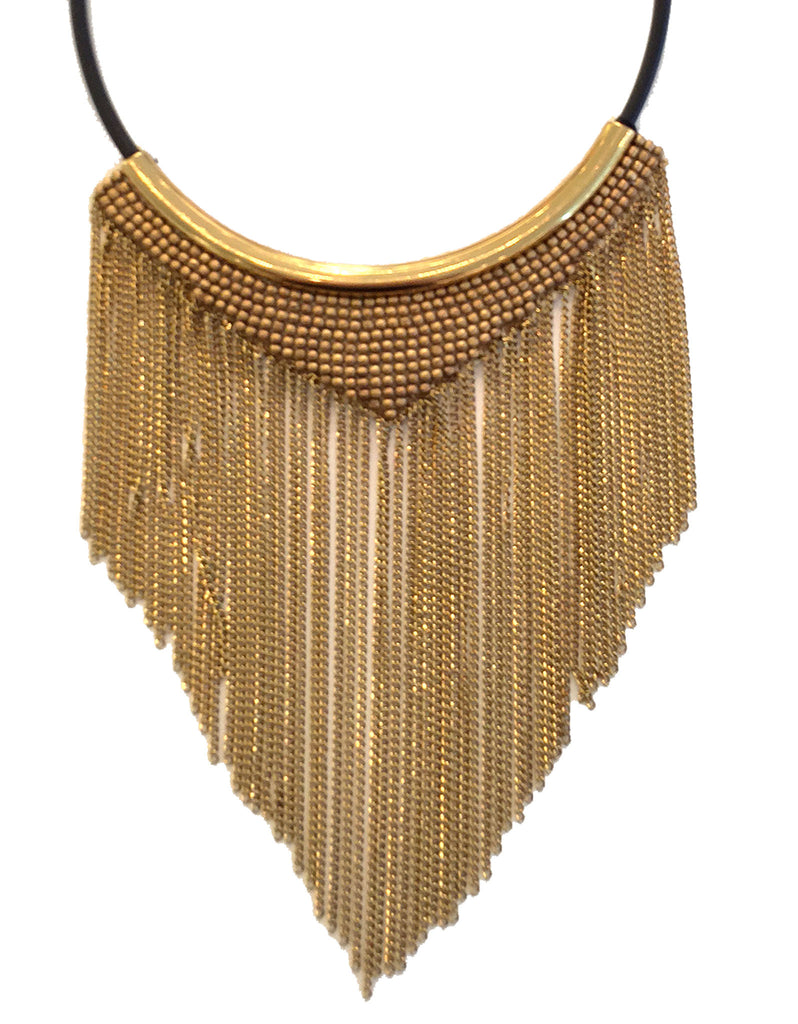 Fiona Paxton Chain Fringe Necklace in Gold - SWANK - Jewelry - 2