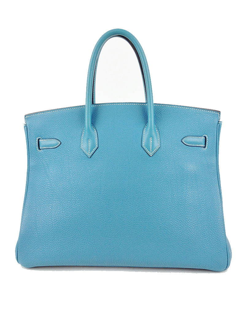 Hermès Blue Jean 35CM Birkin Togo Leather Bag | EMILY'S BAG - SWANK - Handbags - 2