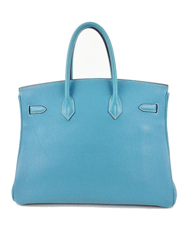 Hermès Blue Jean 35CM Birkin Togo Leather Bag | EMILY'S BAG