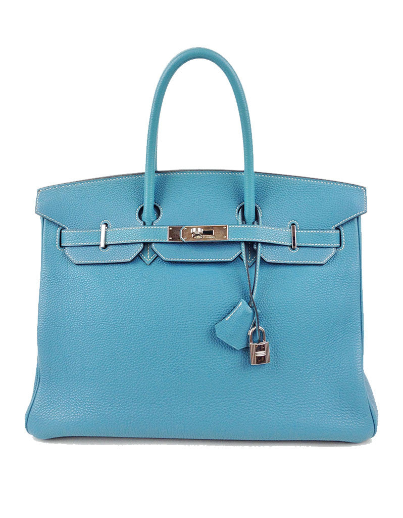 Hermès Blue Jean 35CM Birkin Togo Leather Bag | EMILY'S BAG - SWANK - Handbags - 1