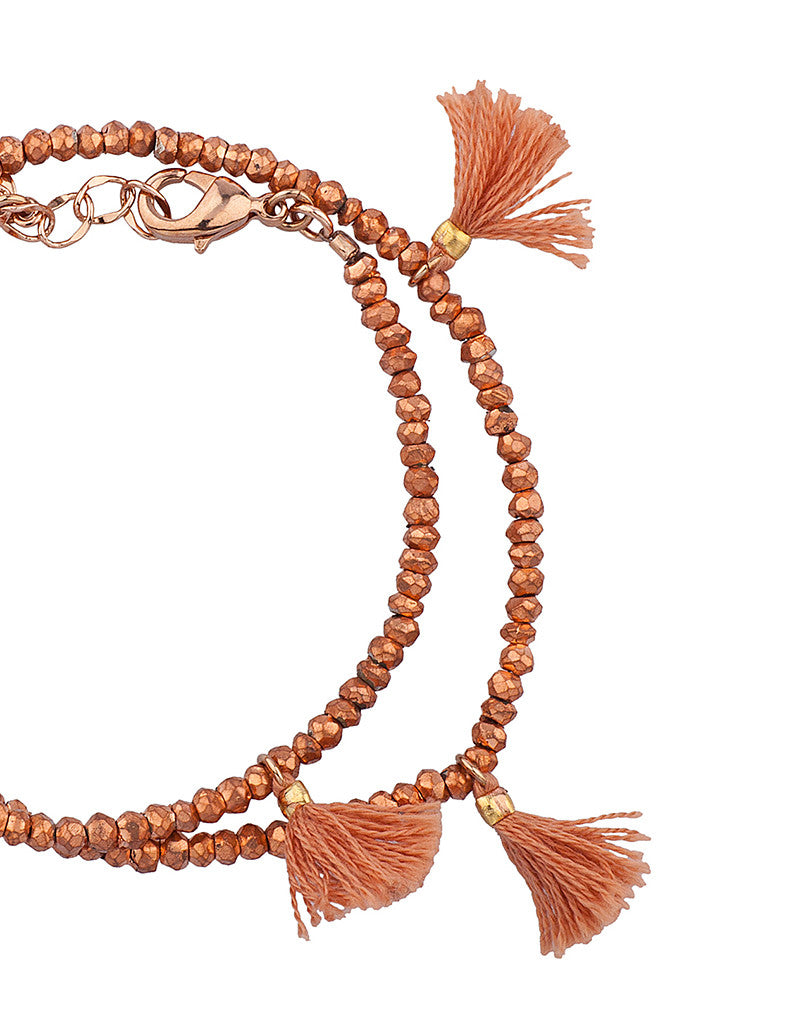 Shashi Laila Gemstone Bracelet in Rose Gold