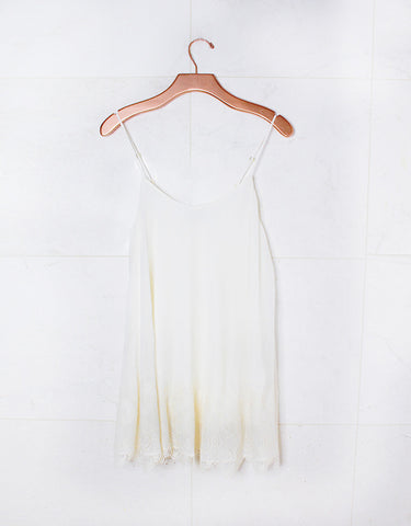 Show Me Your Mumu Lockett Lace Mini Dress in Ivory