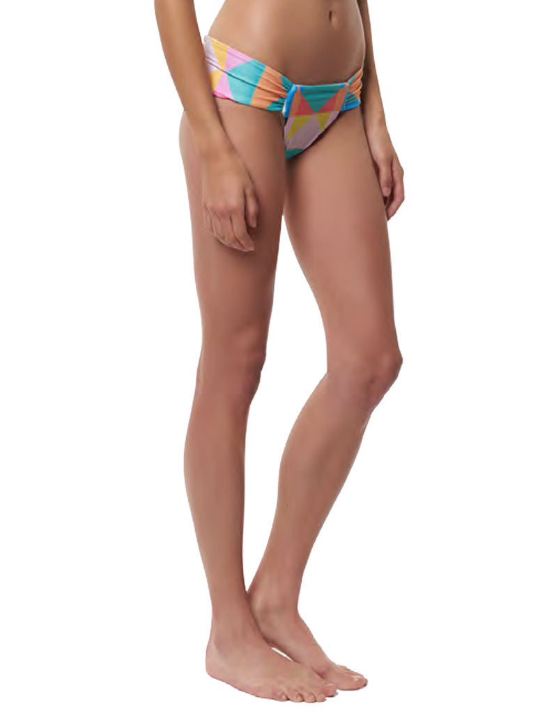 Mara Hoffman Diamond Side Ruched Swim Bottom in Aqua - SWANK - Swimwear - 5