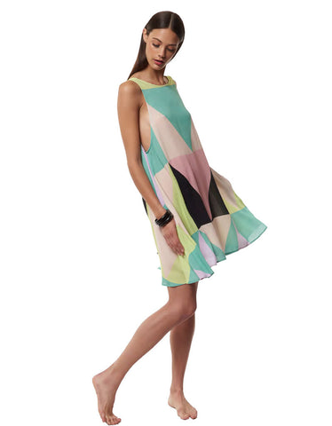 Mara Hoffman Mosaic Swing Dress in Multi