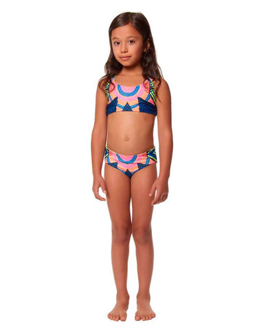 Mara Hoffman Peacock Classic Swim Bottom in Pastel Pink