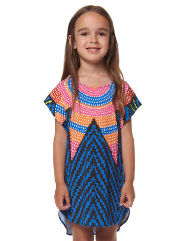 Mara Hoffman Kids Starbasket Dashiki Dress in Navy