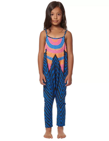 Mara Hoffman Kids Starbasket Jumpsuit in Navy