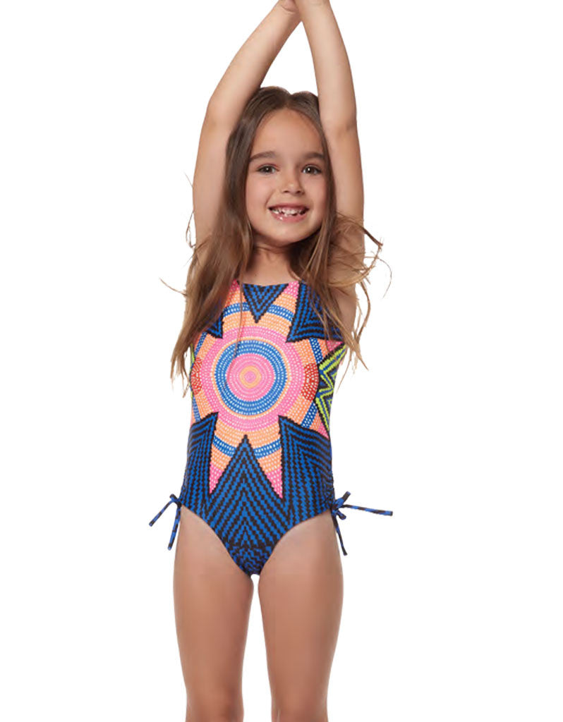 Mara Hoffman Kids Starbasket Tie One Piece in Navy - SWANK - Swimwear - 2