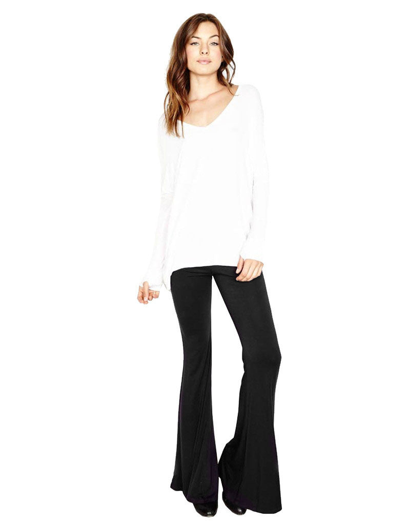 Michael Lauren Mars Bell Pant in Black - SWANK - Pants - 1