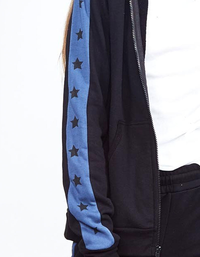 Michael Lauren Harlem Zip Up Hoodie w/Stars & Stripes