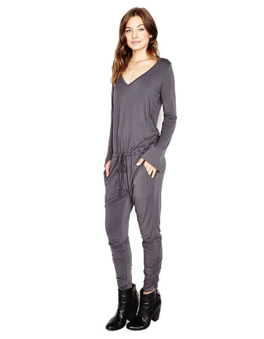 Michael Lauren Rook Jumpsuit in Polar Grey