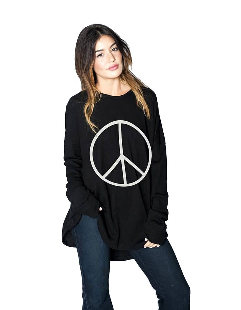 Show Me Your Mumu Bosco Ski Top w/ Peace Sign - SWANK - Tops - 2