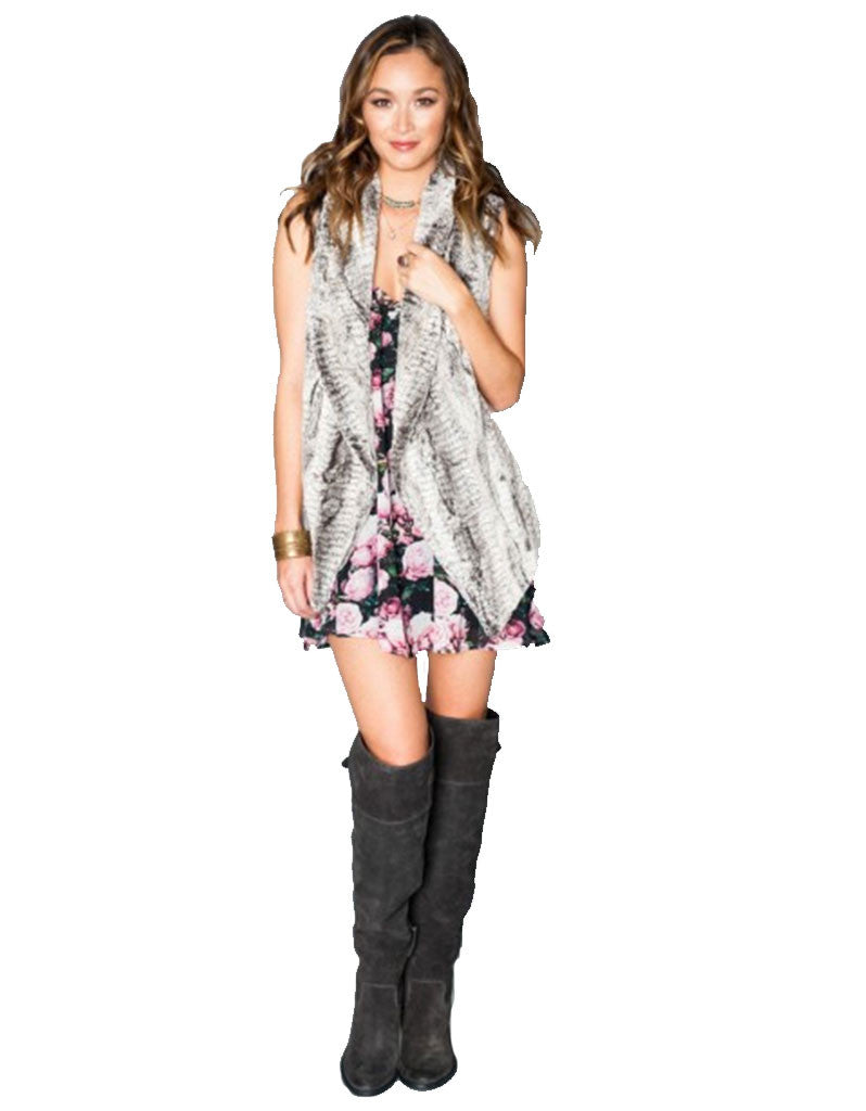 Show Me Your Mumu Fausta Vest in Queen Frost - SWANK - Outerwear - 3