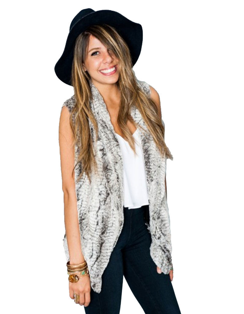 Show Me Your Mumu Fausta Vest in Queen Frost - SWANK - Outerwear - 1