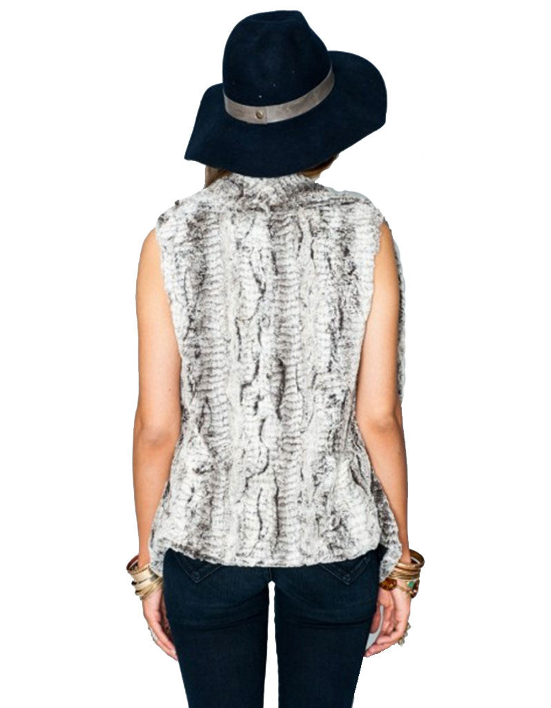 Show Me Your Mumu Fausta Vest in Queen Frost - SWANK - Outerwear - 2