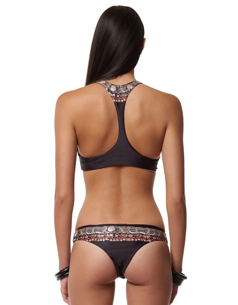 Mara Hoffman Necklace Racerback Top in Black - SWANK - Swimwear - 2
