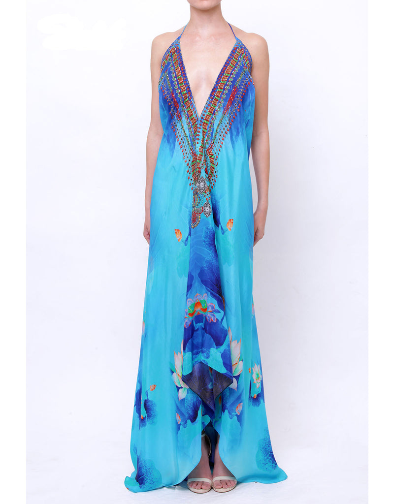 Shahida Parides Lotus 3-Way Style Dress in Azure - SWANK - Dresses - 1