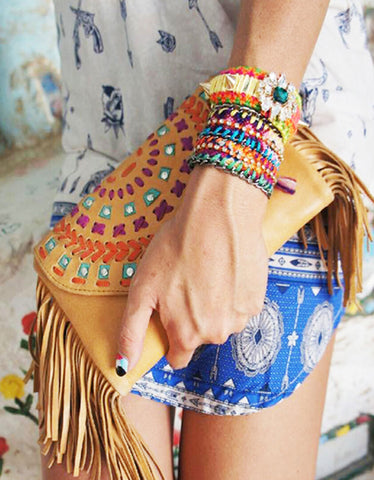 Sacred Clutch with Fringe