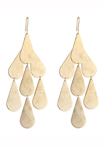 Small Disc Chandelier Earrings