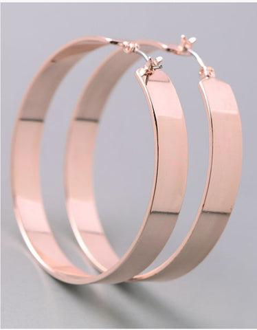 Vintage Snoot Rose Gold Hoop Earrings