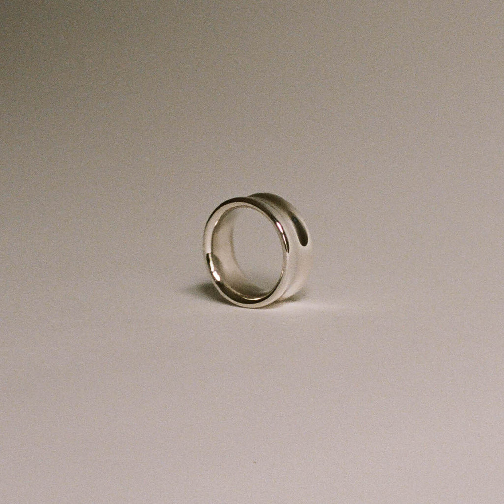 Thick Concave Band Ring