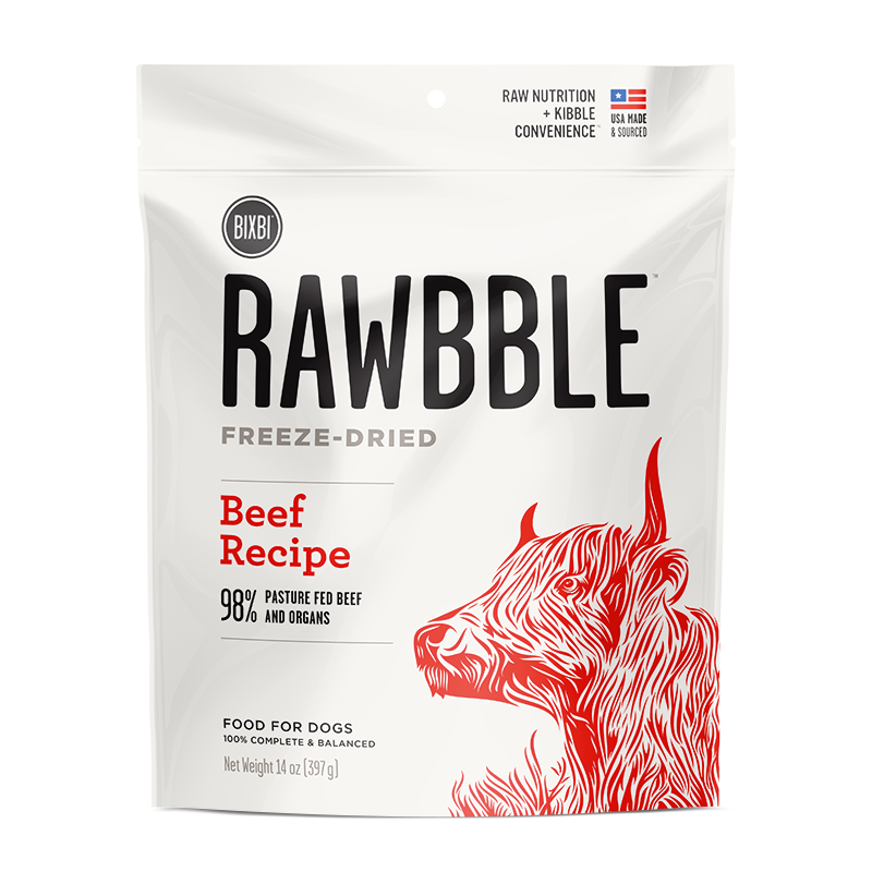RAWBBLE Freeze Dried Food for Dogs - Beef