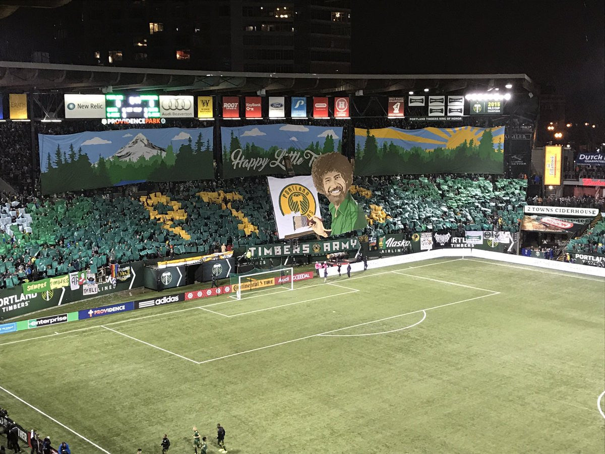 The Timbers with another excellent tifo. Definitely up there with the best of them in MLS.