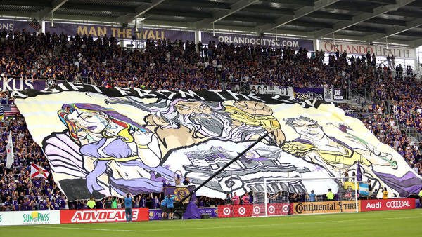 Orlando City's first tifo in their new stadium