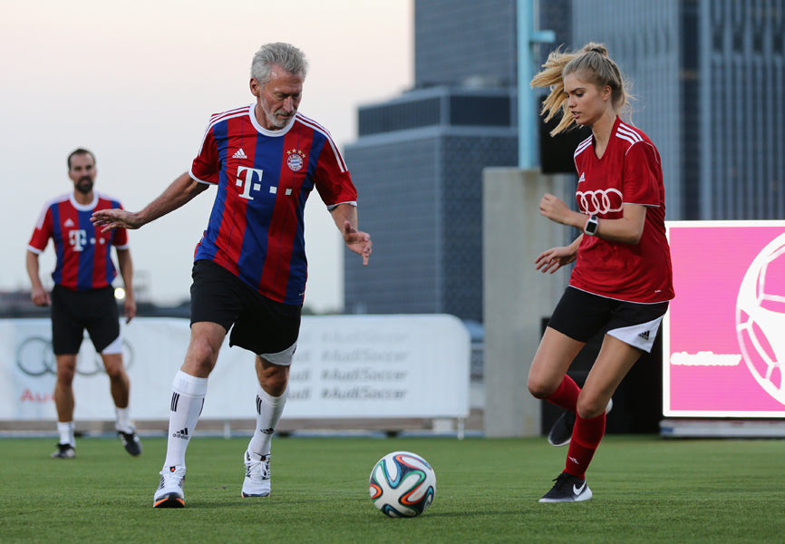 Audi And FC Bayern Munich Host Soccer Pick-Up Game In Brooklyn, NY