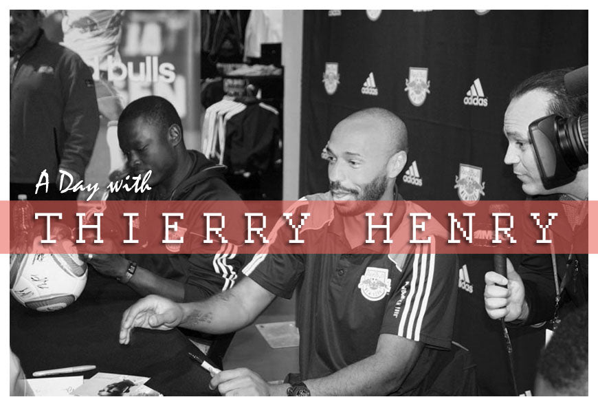 A day with Thierry Henry of the New York Red Bulls